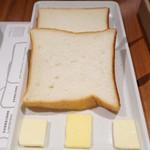セントル ザ・ベーカリー - セントル トーストセット(C:ジャム+バターセット:食パン2種1500円)