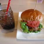 カフェレストラン デュボワ - チリコンカンバーガー セット