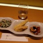 切麦や 甚六 - 酒のみセット(日本酒+350円)