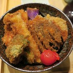タレカツ - ・「野菜かつ丼(¥830)」のアップ。