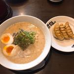 伍代目 哲麺縁 - 料理写真:味玉ラーメン(味噌)と餃子(小)