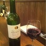 10167699 - ワインもグラスでゆっくりといただきます。