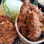 かつアンドかつ - ヒレカツと牡蠣フライの定食