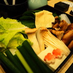 101673909 - 出汁しゃぶ:特別野菜盛合わせ