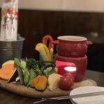 waintokurafutobi-ruharubaru - 立川地野菜のバーニャカウダー 1,080円。
