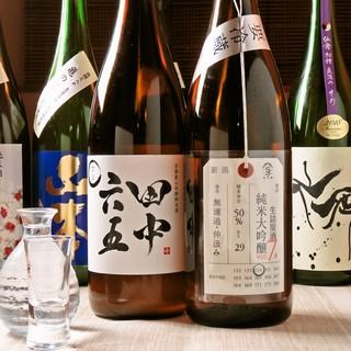 店長厳選!この季節一番美味しい日本酒を揃えています!