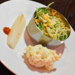 インドレストラン バーワルチー - ランチビュッフェ(1,000円)の『サラダ』