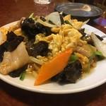 上海亭 - 豚肉と木耳と卵の炒め