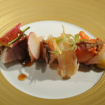 プルミエ・クリュ - 魚介とシャンピニオンドパリのムース