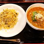 唐居 - チャーハンと坦々麺のセット