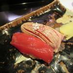 Chakaisekizushi - 赤身と大トロの炙り