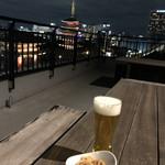 バーシス - 寒いけれどテラスでビール^_^