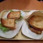 ドトールコーヒーショップ - 【朝カフェ・セット】ハムタマゴサラダとあつあつハムチーズ