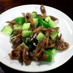 徐記厨房 - 料理写真:砂肝と胡瓜の和え物