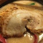 麺場 田所商店 - 炙りチャーシュー1枚 +120円