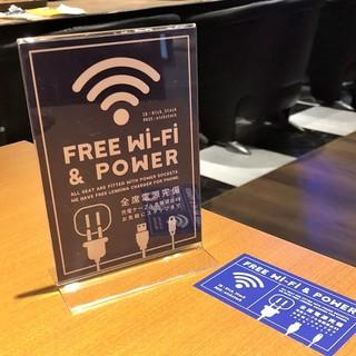 全卓電源&Wi-Fi完備!各種スマホ充電ケーブル貸出可