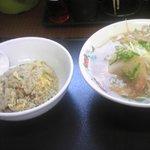 餃子の王将 - 本日の『サービスランチ』630円 王将ラーメン&ミニ焼飯