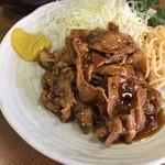 101711040 - バラホルとは、豚バラ肉をホルモンダレで炒めたもの。