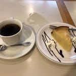 カフェモカ - 料理写真:ケーキセット@650円
