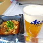 味百銭 成田屋 - 料理写真:ホルモン煮込み  500円  生ビール  500円