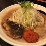辛口肉ソバ ひるドラ - 味噌ラーメン [レベル2]