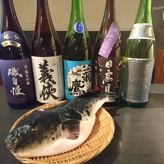 魚料理色々、酒も色々