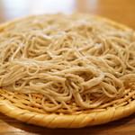 手打ちそば 菊谷 - 唎き蕎麦2種(1300円。新潟の信濃一号の九一の蕎麦)