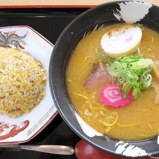 らーめん きちりん - 料理写真:チャーハンセット白みそ_1,100円