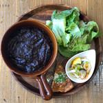カフェ カフェッタ 梅ヶ丘 - 黒毛和牛の黒カレー