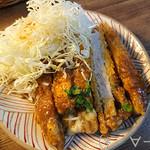 カフェ 呂久呂 - トンカツ&キャベツ取り分け!!