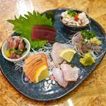 魚飯 - 刺身盛り合わせ