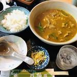 川福 - 1,150円は?だけど頭皮、顔面共に汗だく。白飯260円はカレー茶漬けにして美味しく頂きました。