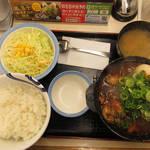松屋 - 料理写真:【期間限定】 鶏と玉子の味噌煮込み鍋膳 2019年2月