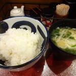101738088 - ご飯とお味噌汁
