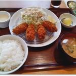 満天食堂 - かきフライ定食 750円