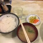 101741181 - お水、ご飯、お味噌汁、お漬物