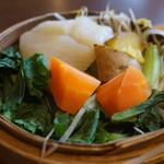 101744948 - 野菜の蒸篭蒸しUP