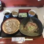ゆう生庵 - 料理写真:二枚盛り(おろし・もり蕎麦).