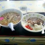 かねしめ食堂 - 料理写真:半カレーラーメン