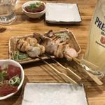 豊後酒場 - 100円琉球、タイラギと豚バラの串焼