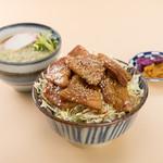 鎌倉 里のうどん - バラ丼セットたぬき