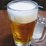 西海 - 夜なので一応これ。揚げ麺だとビールも進みます。