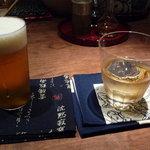 酒趣 柳浦堂 - 生ビール、ウィスキー(名前忘れました・・・)