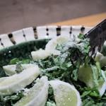 天ぷら串 山本家 - 春菊と日向夏のサラダ