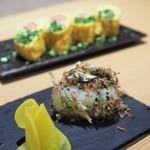 天ぷら串 山本家 - 佐賀県呼子産 イカ昆布おにぎり・明太子丸ごと1本出汁巻卵焼き