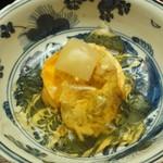 木山 - 蒸し蟹、卵豆腐、スッポン煮こごり