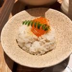 京都四条くをん - 西京味噌漬け卵黄 ごはん
