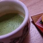 朝野家 - 料理写真:お抹茶&お菓子♪