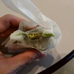 きくすい堂 - 料理写真:お多福カスタード大福 中身