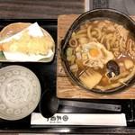 三国一 - ほうとう風鍋うどん(1,000円)+海老天(350円)